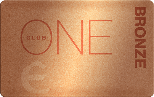 Bronze ONE Club Card