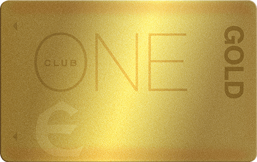 Gold ONE Club Card